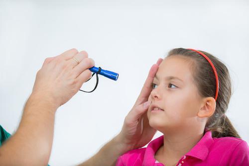 Child Having Her Eyes Checked